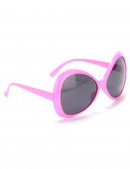 Aikuisten vaaleanpunaiset silmälasit Disco