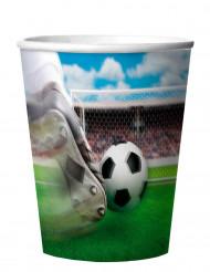 Jalkapallo-muovimukit hologrammilla, 4 kpl
