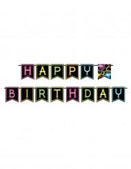 Neonvärinen juhlanauha Happy Birthday