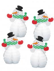 Lumiukko pienet pöytäkoristeet 15 cm 4 kpl