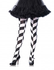 Musta-valkoiset sukkahousut aikuiselle