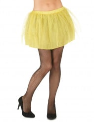 Naisten keltainen tutuhame läpikuultamattomalla alushameella
