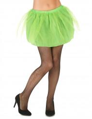 Naisten vihreä tutuhame läpikuultamattomalla alushameella