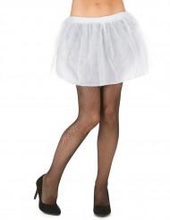 Naisten valkoinen tutuhame läpikuultamattomalla alushameella
