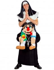 Aikuisten naamiaisasu Nunnaa kantava kirkkoherra