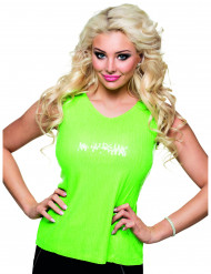 Naisten vihreä neon toppi
