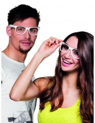 Valkoiset silmälasit aikuiselle 4 kpl