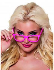 Neonvaaleanpunaiset lasit aikuisille - 4 kpl