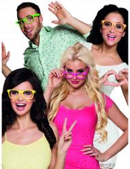 4kpl neonvärisä laseja