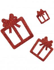 Punaiset lahjapakettikoristeet, 6 kpl