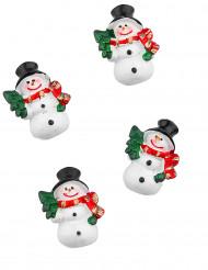 Lumiukkokoristeet 6 kpl