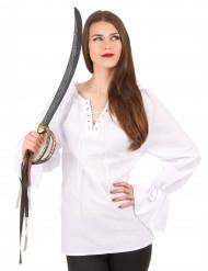 Pitkähihainen valkoinen paita naisille