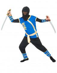 Sininen ninja-asu lapsille