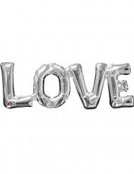 Hopeinen LOVE -ilmapallo