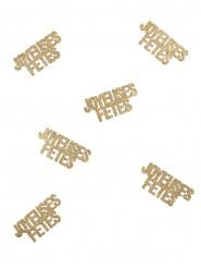 Joyeux fêtes- kullanväriset konfetit 6 kpl