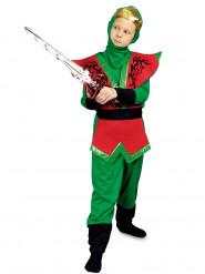 Lasten punavihreä ninja-asu