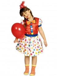 Lasten värikäs pallokuvioitu klovniasu