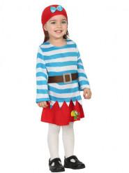 Sinivalkoraidallinen merirosvon mekko lapsille