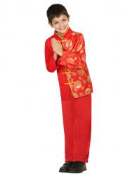 Punainen kiinalainen puku lapsille