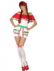 Naisten meksikolaistyylinen shortsi naamiaispuku