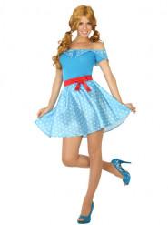 Sininen 50-luvun mekko