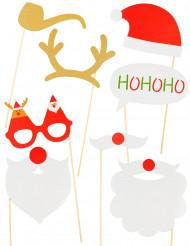 Joulupukki-photoboothsetti 8 kpl