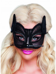Naisten musta pitsinen kissasilmikko
