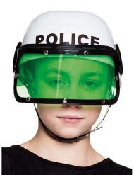 Valkoinen poliisin kypärä lapsille