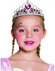 Prinsessan kruunu sydänkoristeilla