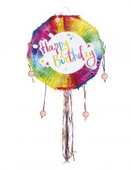 Pyöreä Happy Birthday -piñata