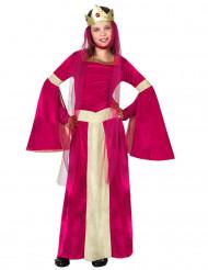 Punainen kuningattaren puku lapsille