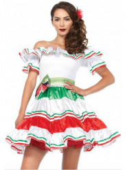 Naisten seksikäs meksikolainen señorita naamiaispuku
