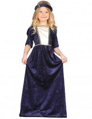 Sininen linnanneidon puku lapsille