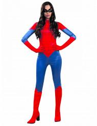 Naisten naamiaisasu punainen hämähäkkinainen