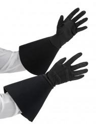 Mustat ratsumiehen hansikkaat aikuisille