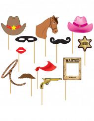 Cowboy kuvausrekvisiitta 12kpl