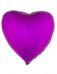 Sydämenmuotoinen alumiinipallo (fuksia)