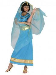 Naisten sininen prinsessa-asu