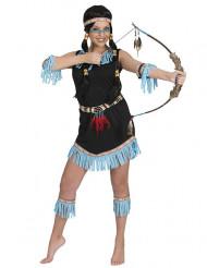 Sinimusta intiaanimekko