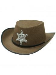 Seriffin ruskea hattu lapsille
