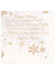 Happy Holidays- servetit 40 x 40 cm 12 kpl