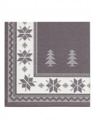 Harmaat talviset servetit 40 x 40 cm