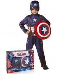 Kapteeni Amerikan™ naamiaisasu lahjapaketissa lapselle - klassikko