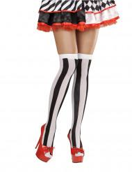 Musta-valkoiset sukat naiselle