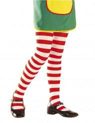 Punavalkoraidalliset sukkahousut lapselle