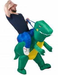 Dinosauruksella ratsastava tutkija - Aikuisten naamiaisasu