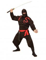 Aikuisten lihaksikas ninja naamiaispuku