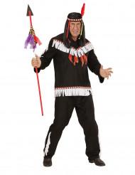 Mustavalkoinen intiaaniasu
