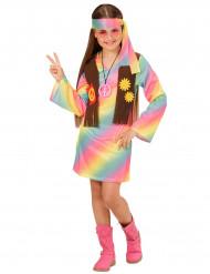 Monivärinen hippiasu tytölle