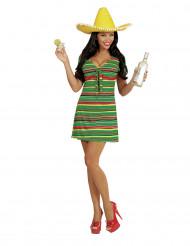 Naamiaispuku meksikotyylinen mekko